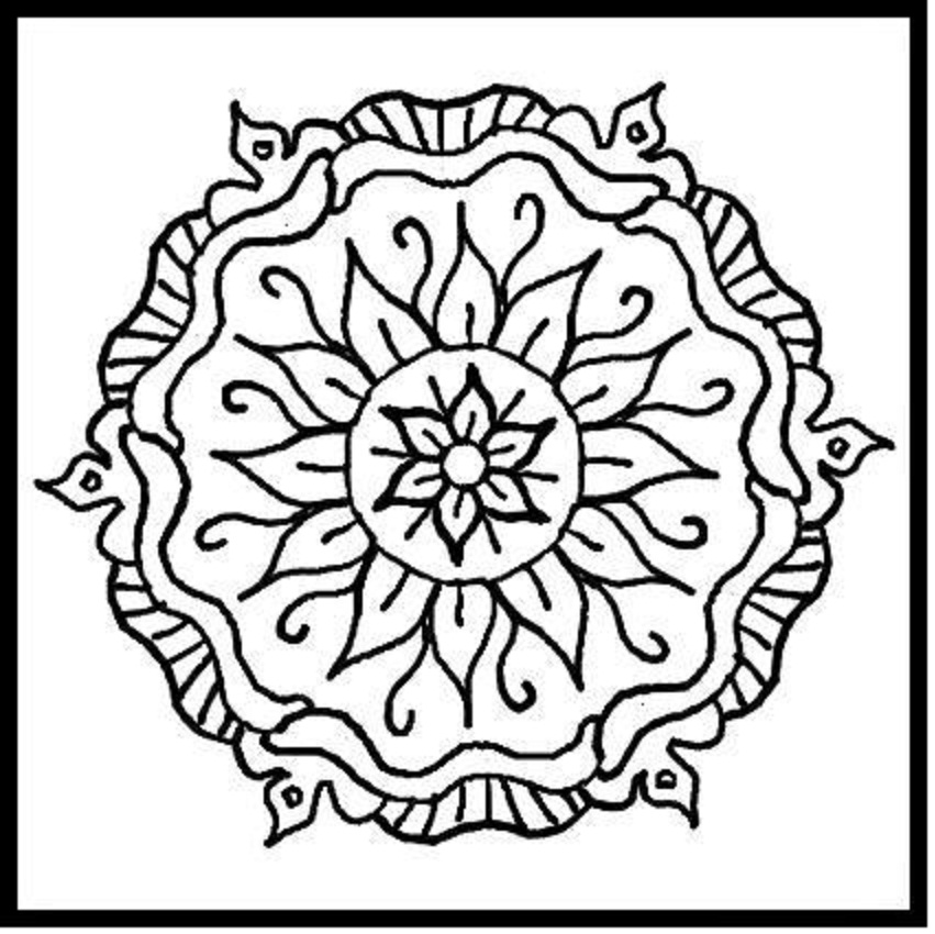 851x850 Flower Pattern Coloring Pages Educational Coloring Pages