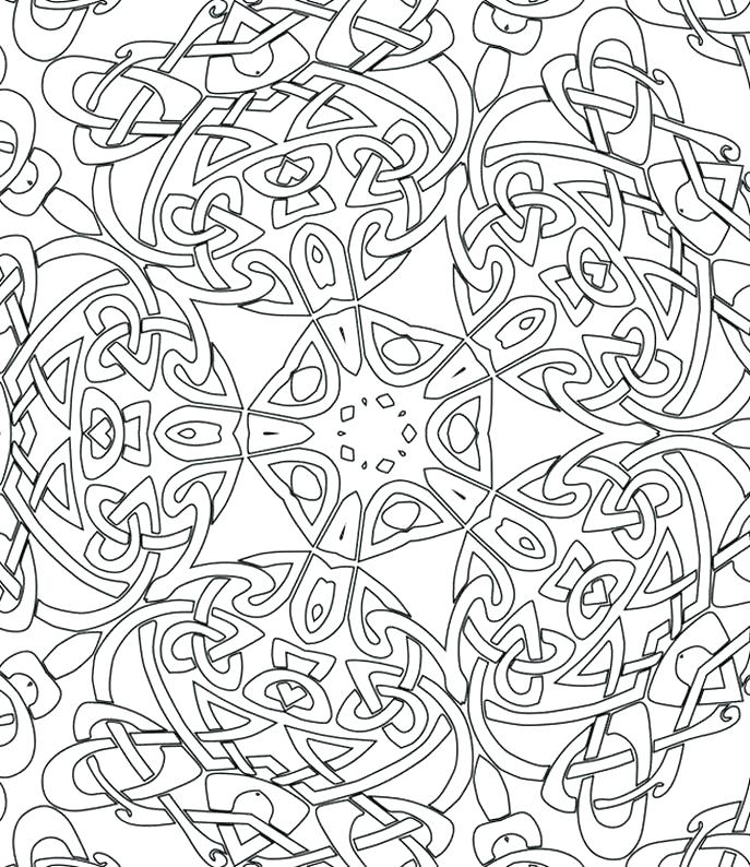 687x794 Geometric Coloring Sheets Printable Geometric Coloring Page
