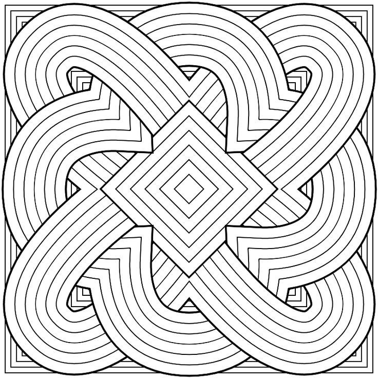 736x736 Kaleidoscope Pattern Coloring Pages