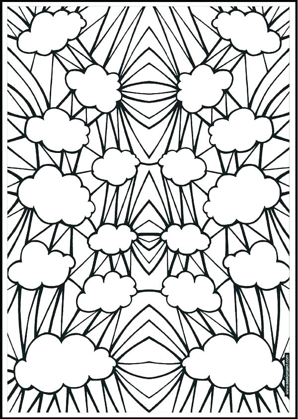 600x841 Patterned Coloring Pages Free Geometric Pattern Coloring Pages