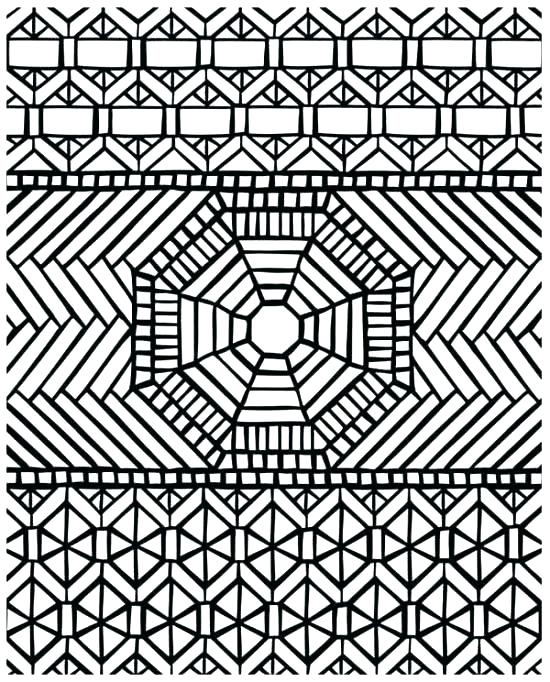 550x682 Printable Mosaic Coloring Pages Mosaic Coloring Pages Pattern