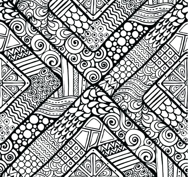 640x600 Color Pattern Sheets Printables Kids Coloring Abstract Printable