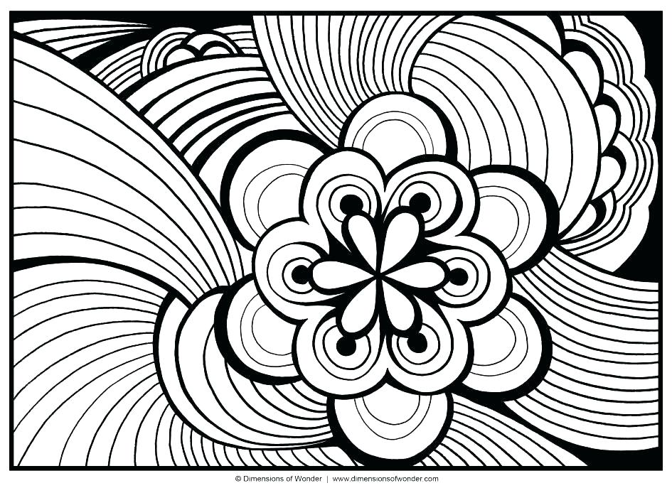Pattern Coloring Pages Kindergarten At Getdrawings Com Free For