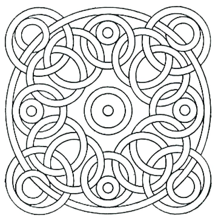 720x730 Cool Pattern Coloring Pages Geometric Designs To Color Free