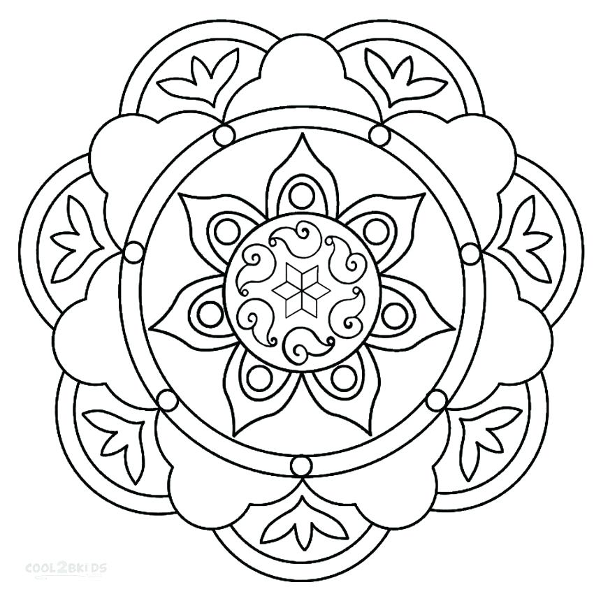 850x850 Free Printable Design Coloring Pages Complex Design Coloring Pages