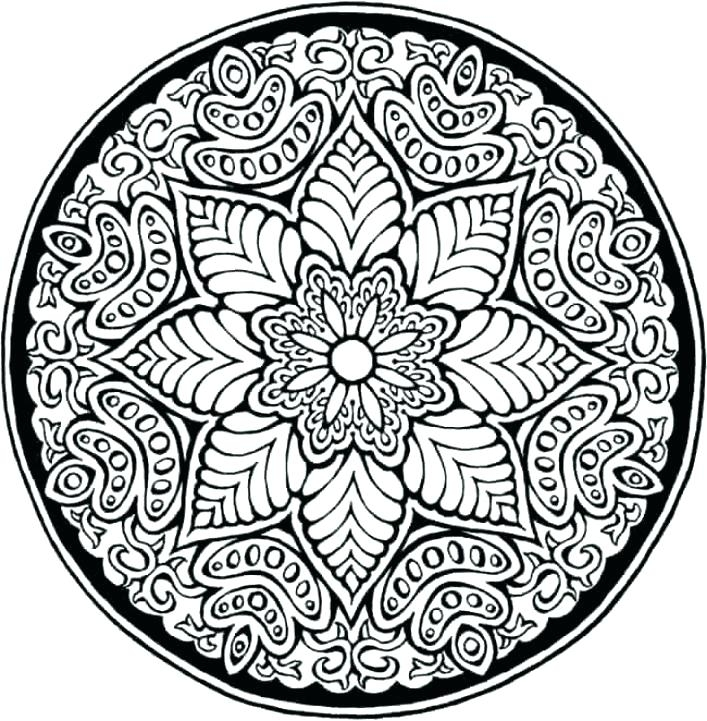 707x721 Hard Design Coloring Pages Colouring Pages Hard Patterns Mandala