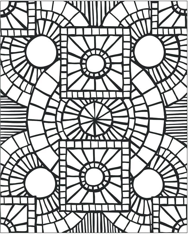 650x809 Mosaic Coloring Pages Mosaic Patterns Printable Mosaic Patterns
