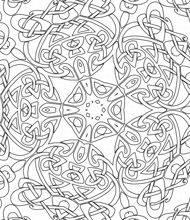 654x756 Printable Christmas Patterns For Coloring