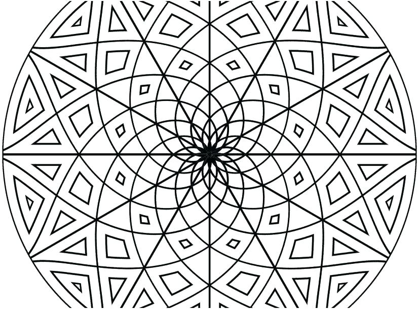 827x609 Geometric Patterns Coloring Pages