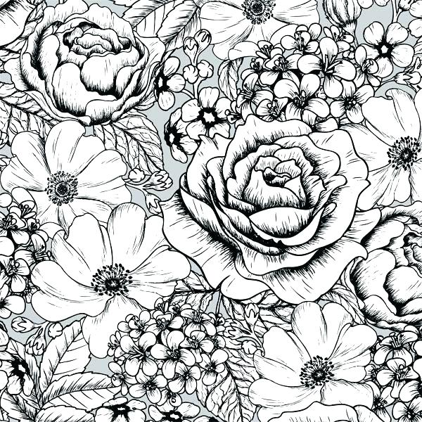 600x600 Amazing Flower Pattern Coloring Pages Best Of Peacocks With Page