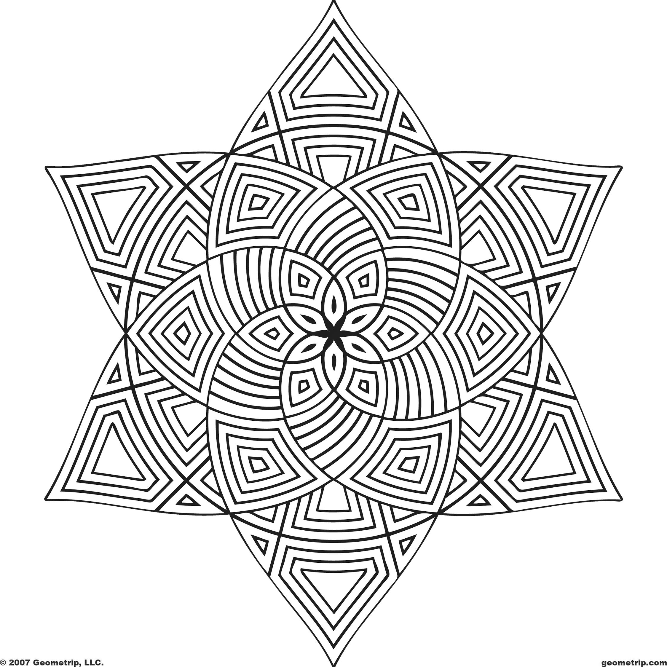 2250x2250 Coloring Page Shape Geometric Designs