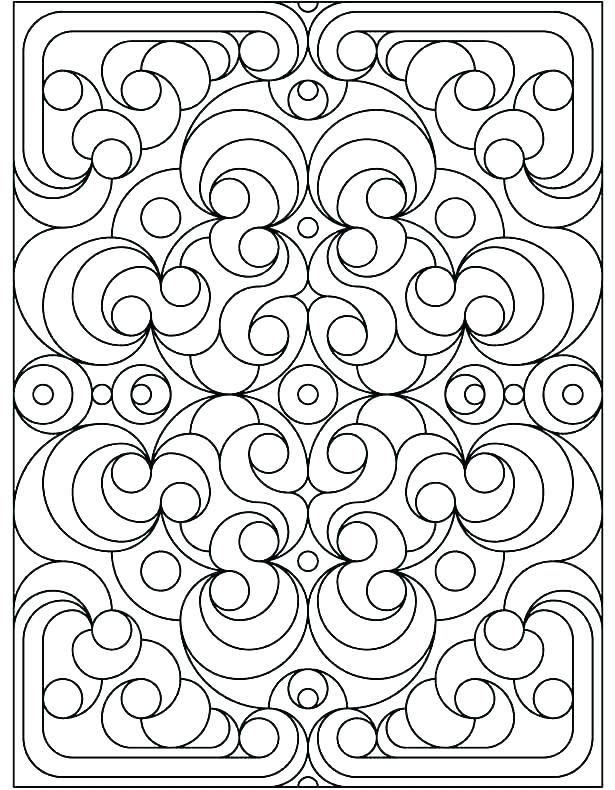 615x790 Geometric Design Coloring Pages Geometric Design Coloring Pages