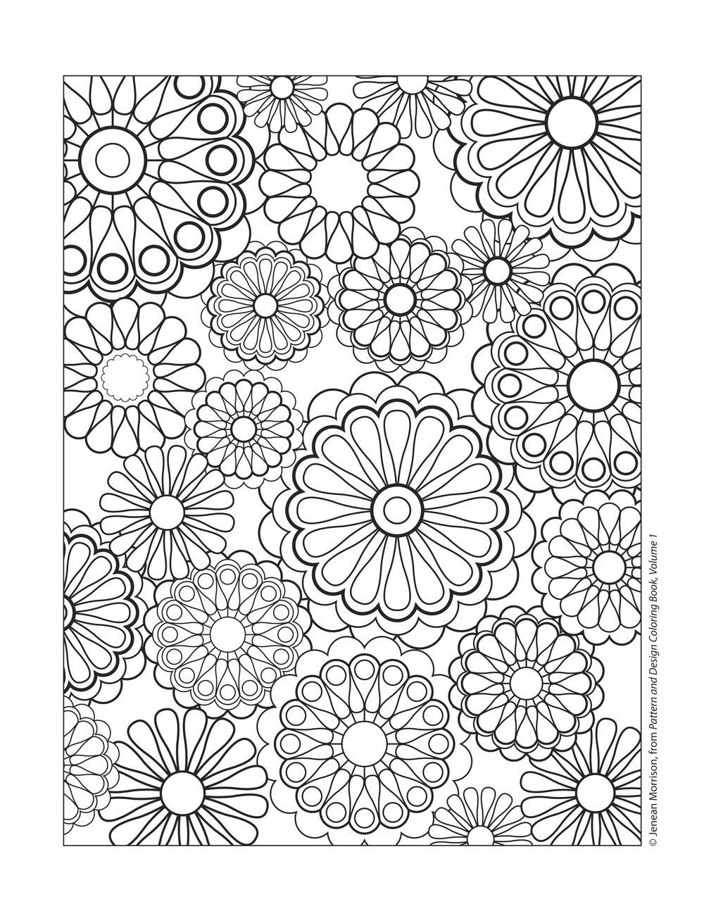 1000x1294 Printable Printable Coloring Pages For Adults All Over Repeating