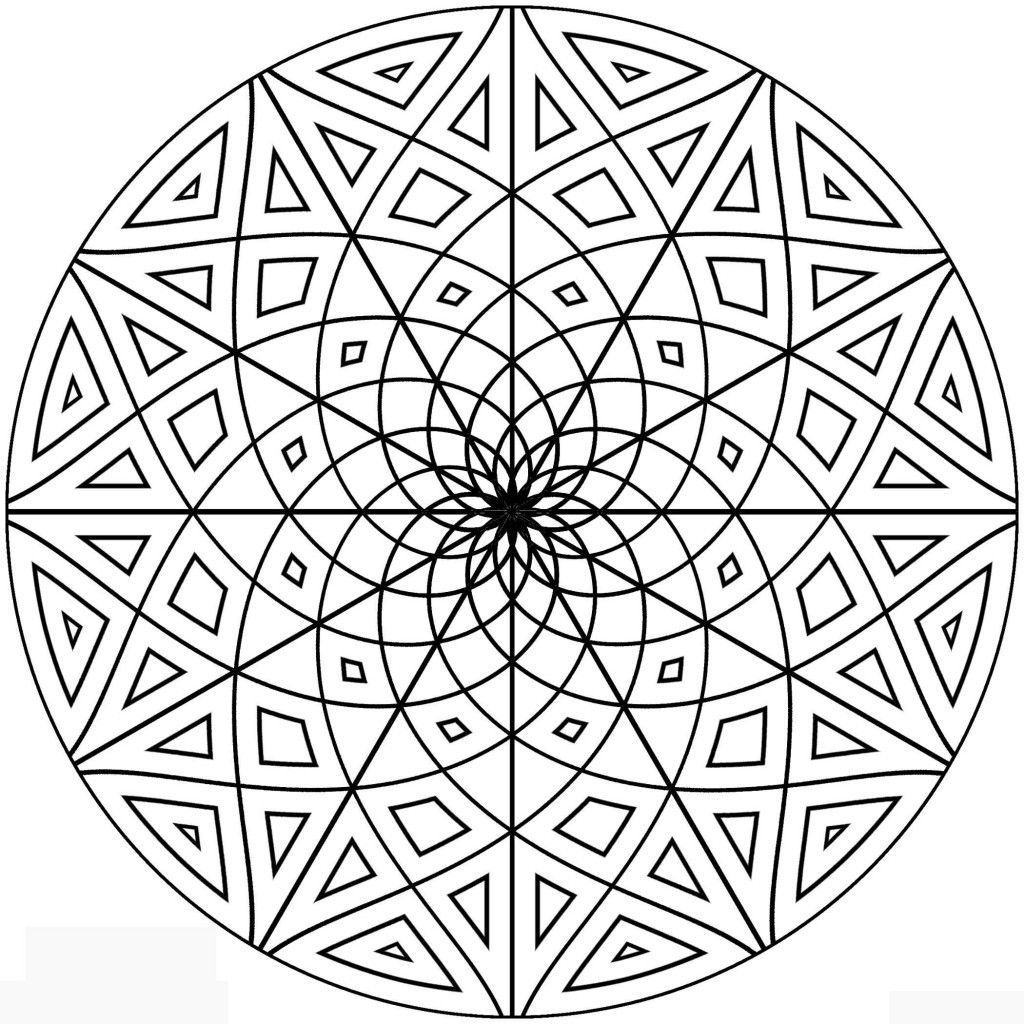 1024x1024 Circle Pattern Coloring Pages