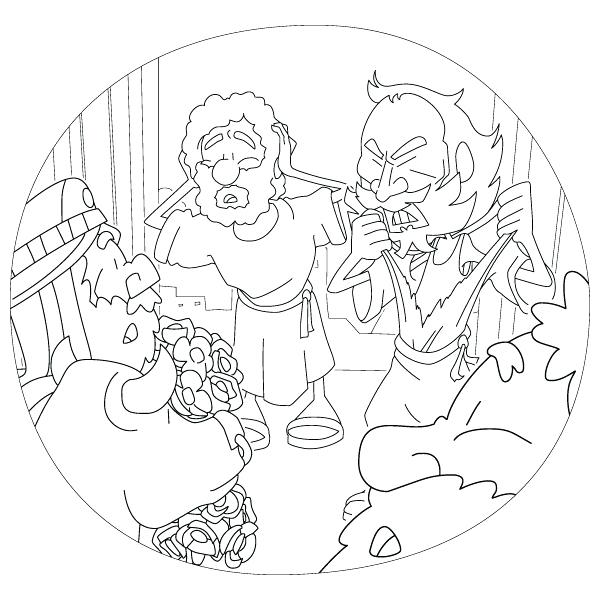 600x600 Coloring Page Paul Barnabas First Missionary Journey Acts