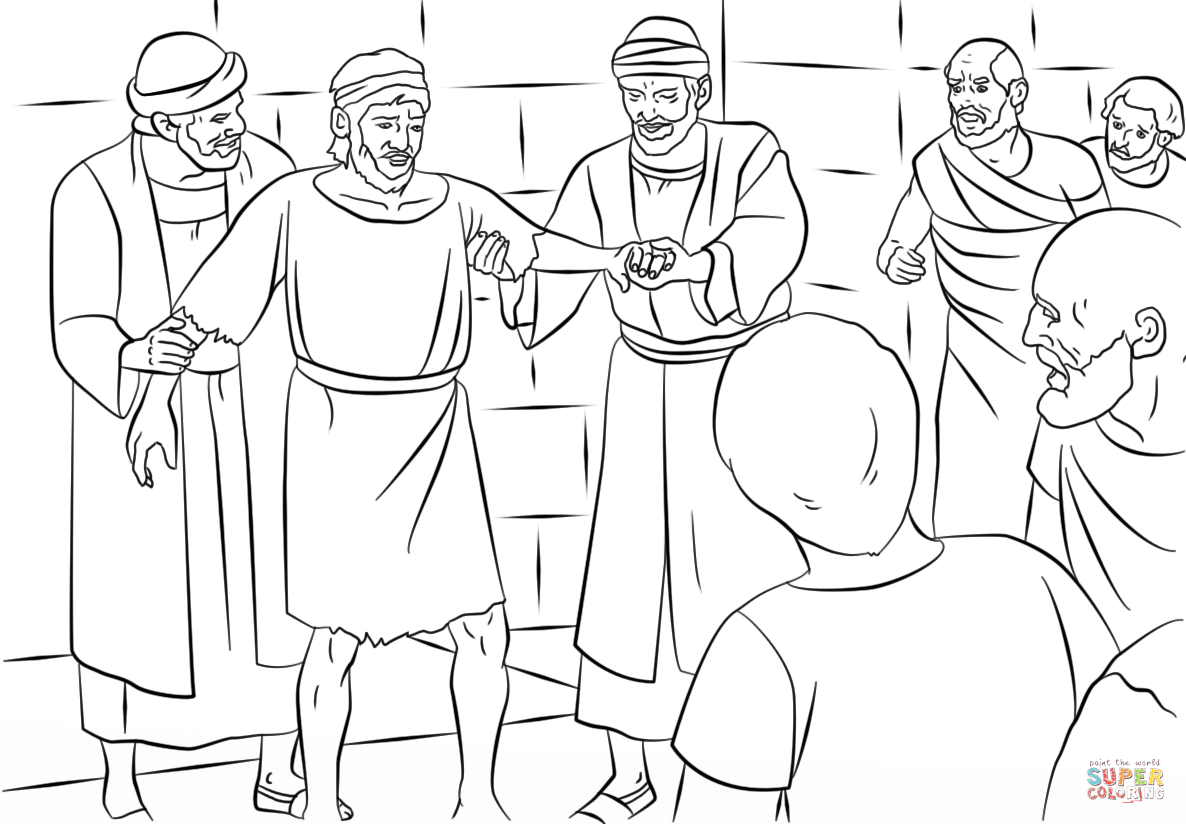 1186x824 Focus Lame Man Healed Coloring Page Paul And Barnabas In Lystra