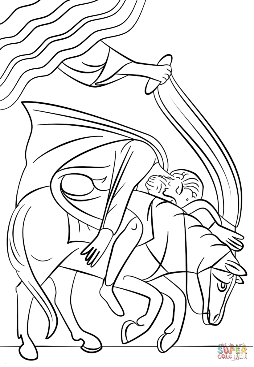 824x1186 Paul On The Road To Damascus Coloring Page, Stunning Paul