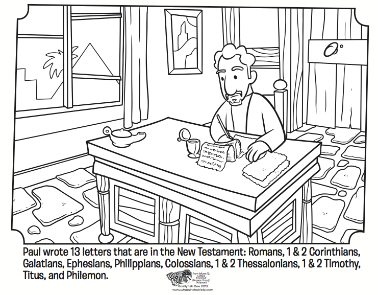 741x577 Paul's Letters Coloring Page