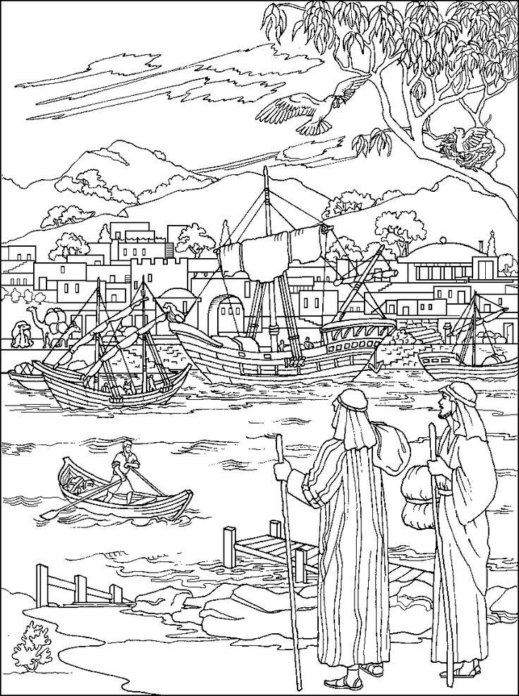 736x987 Paul And Barnabas Coloring Page Sunday School