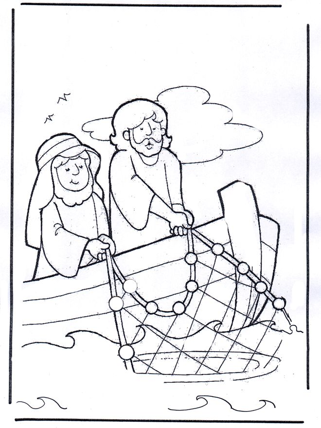 660x880 Peter James And John Bible Coloring Pages For Kids
