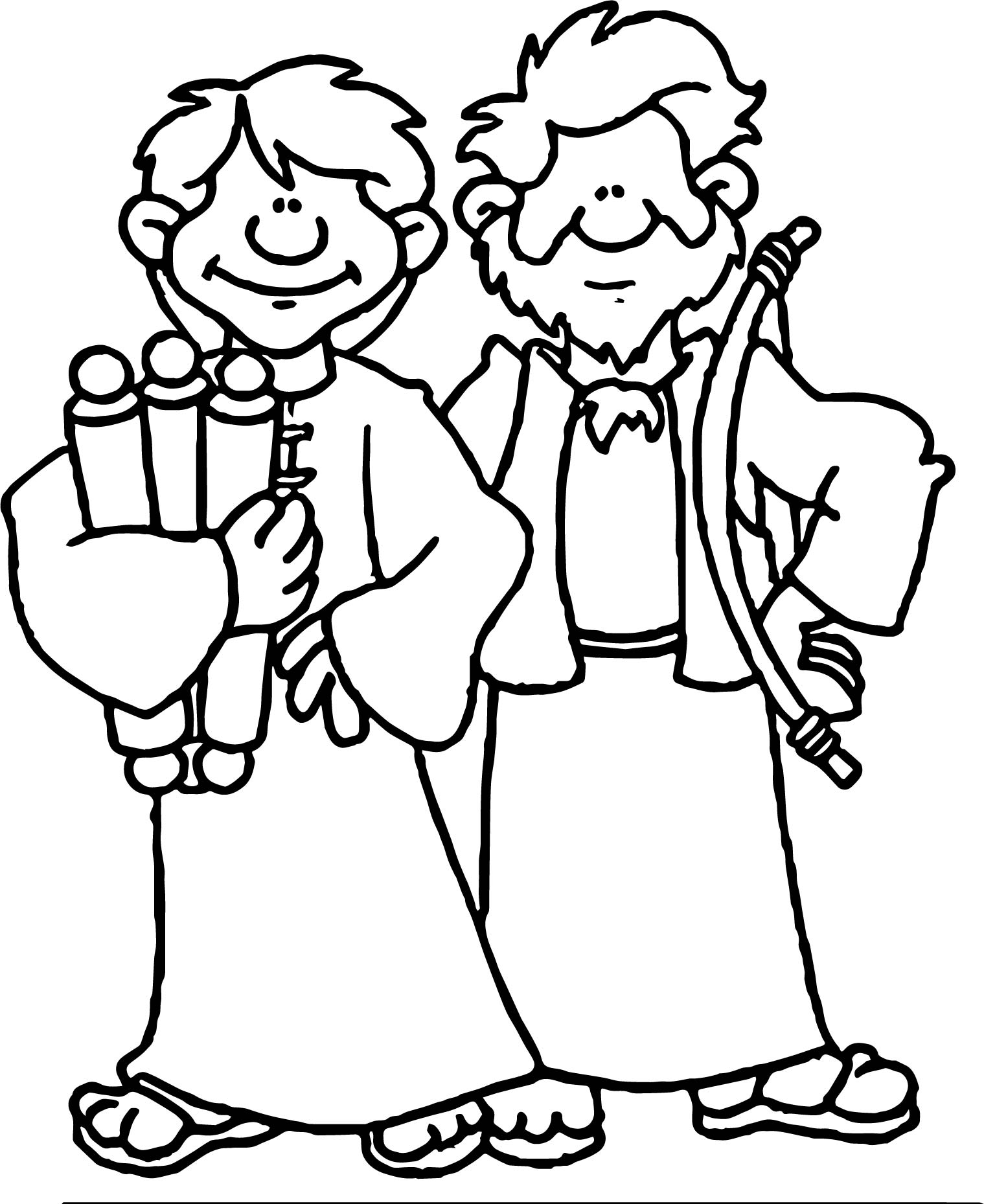 1519x1859 Apostle Paul Two People Coloring Page Wecoloringpage