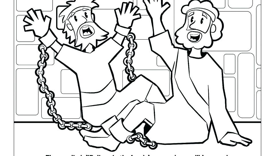 Paul And Silas Coloring Page At Getdrawings Com Free For Personal