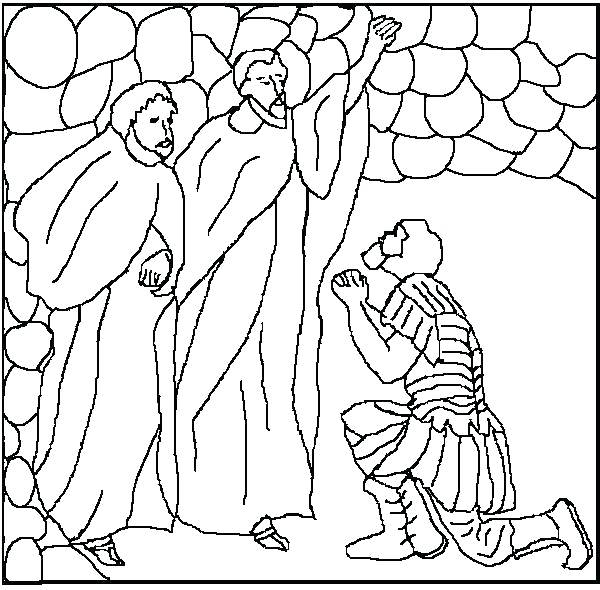 600x590 Paul And Silas Coloring Page Coloring Pages For Kids