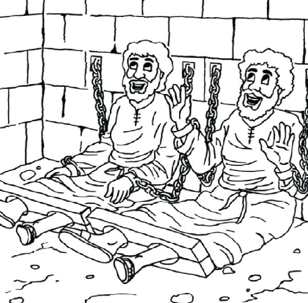 600x590 Paul And Silas Coloring Page Paul And Silas Coloring Page