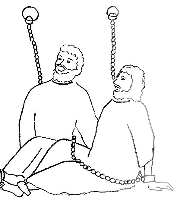 577x674 Paul And Silas Coloring Pages Print Page For In Prison