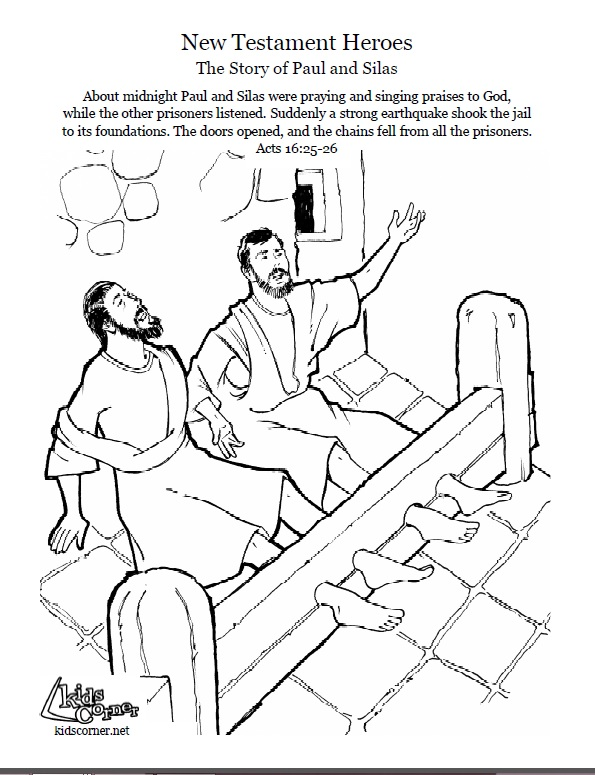 595x775 Paul And Silas Coloring Page, Audio Bible Story And Script