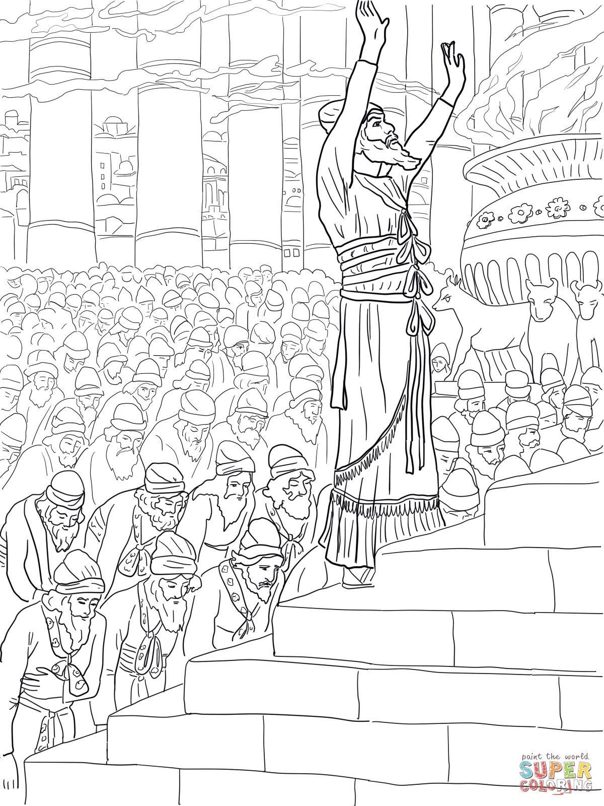 1200x1600 Solomon Prayer In The Temple Coloring Page New Coloring Sheets