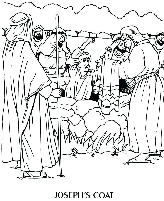 650x795 Joseph In Jail Coloring Sheet