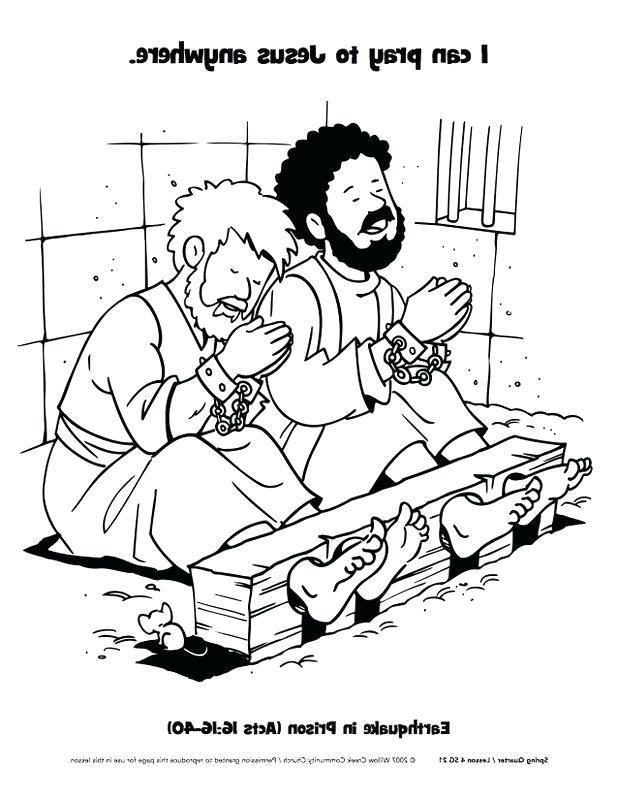 617x800 Paul And Silas Coloring Page And In Jail Coloring Sheet Coloring