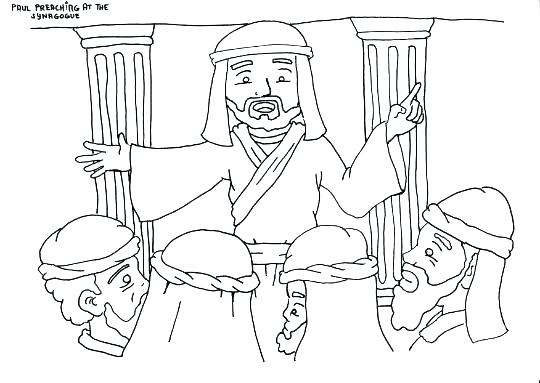 540x383 Paul And Silas Coloring Page Apostle Clip Art And Coloring Pages