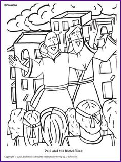 236x317 Paul And Silas In Jail Coloring Page Apostle Paul