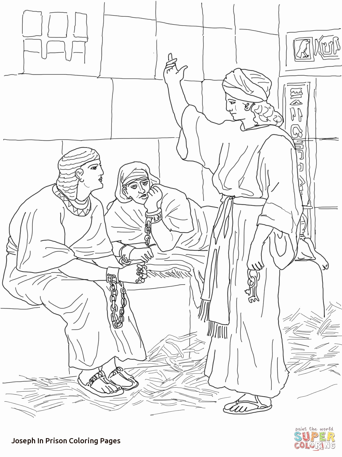 1200x1600 Paul And Silas In Prison Coloring Page Image Joseph In Prison
