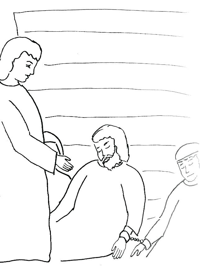 645x859 Coloring Pages Peter In Prison Coloring Page Story Coloring Page