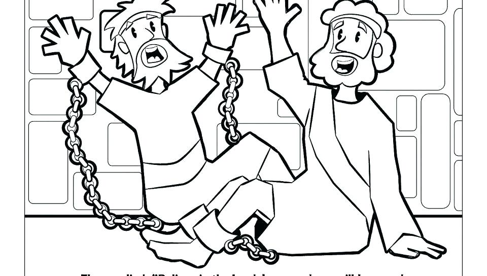 960x544 Paul And Silas Coloring Page Earthquake Coloring Pages Paul Silas