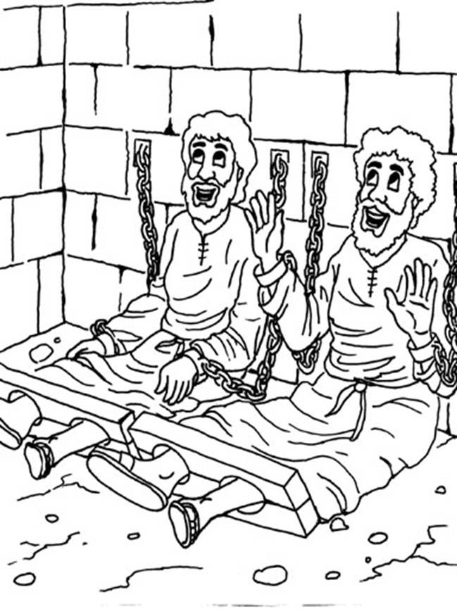 paul and silas in prison - Google Search (With images) | Bible ... | 865x649