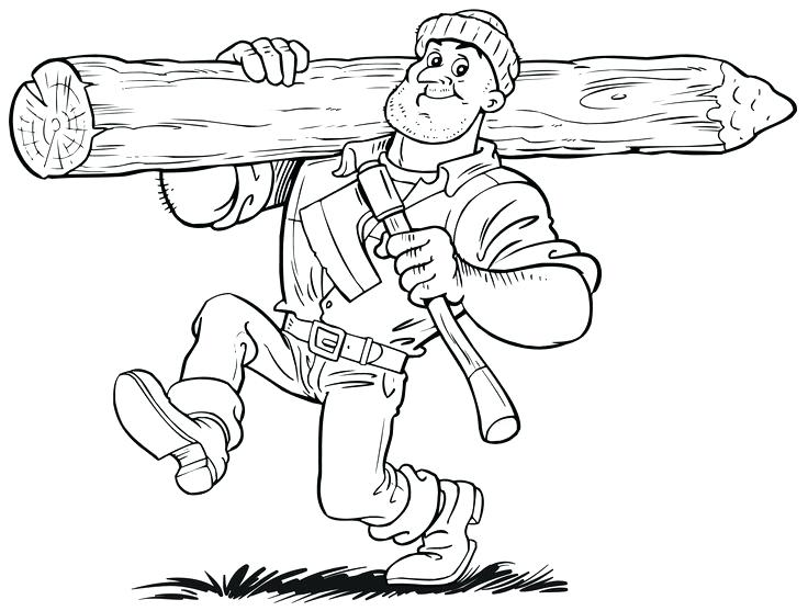 736x557 Paul Bunyan Coloring Page Coloring Pages Activities Paul Bunyan