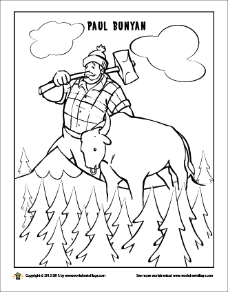 331x423 Paul Bunyan Coloring Page