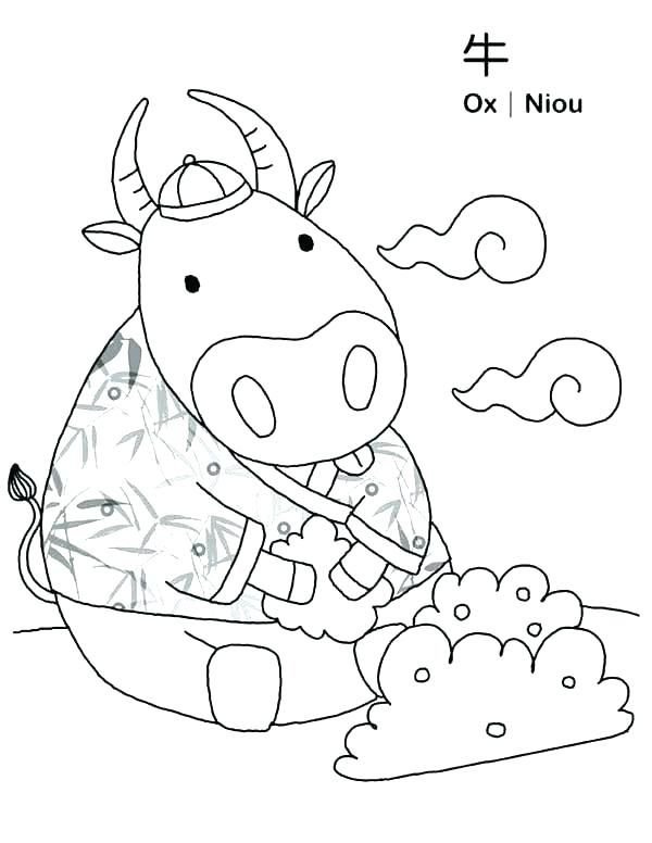 600x776 Paul Bunyan Coloring Pages Coloring Page Ox In Symbols Coloring