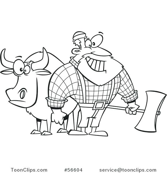 581x600 Paul Bunyan Coloring Pages Printable