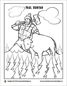 236x300 Paul Bunyan Coloring Page Paul Bunyan, Worksheets And Tall Tales