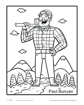 350x440 Paul Bunyan Coloring Page Coloring Page Best Coloring Pages