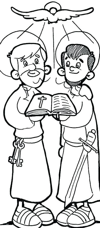 393x891 Paul Coloring Pages Apostle Coloring Pages Apostle Coloring Pages