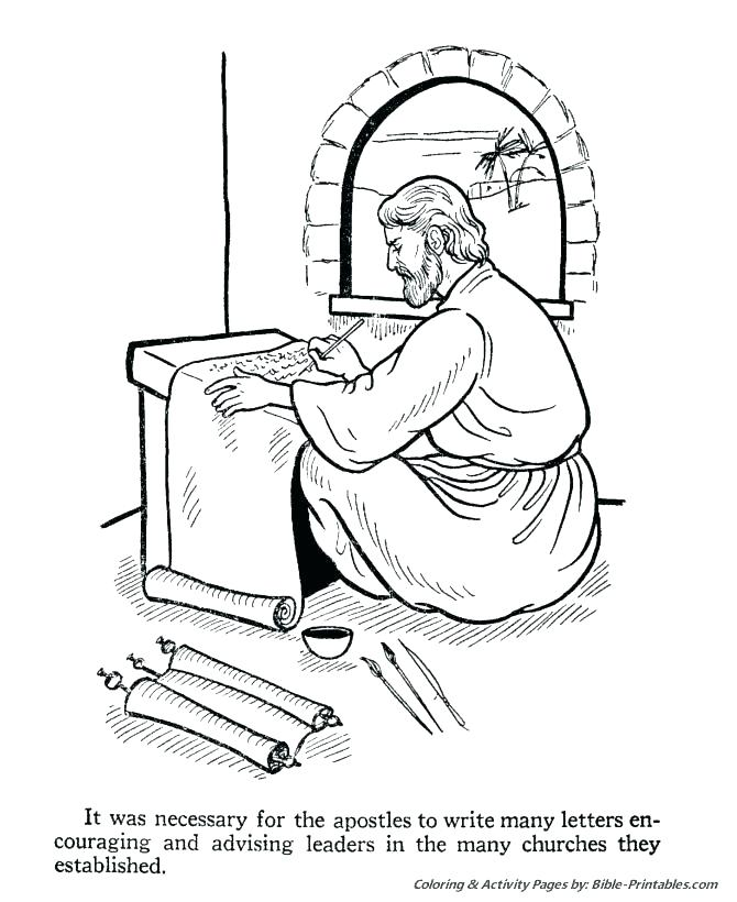 670x820 Paul Coloring Pages Apostle Coloring Pages Shipwreck The Apostles