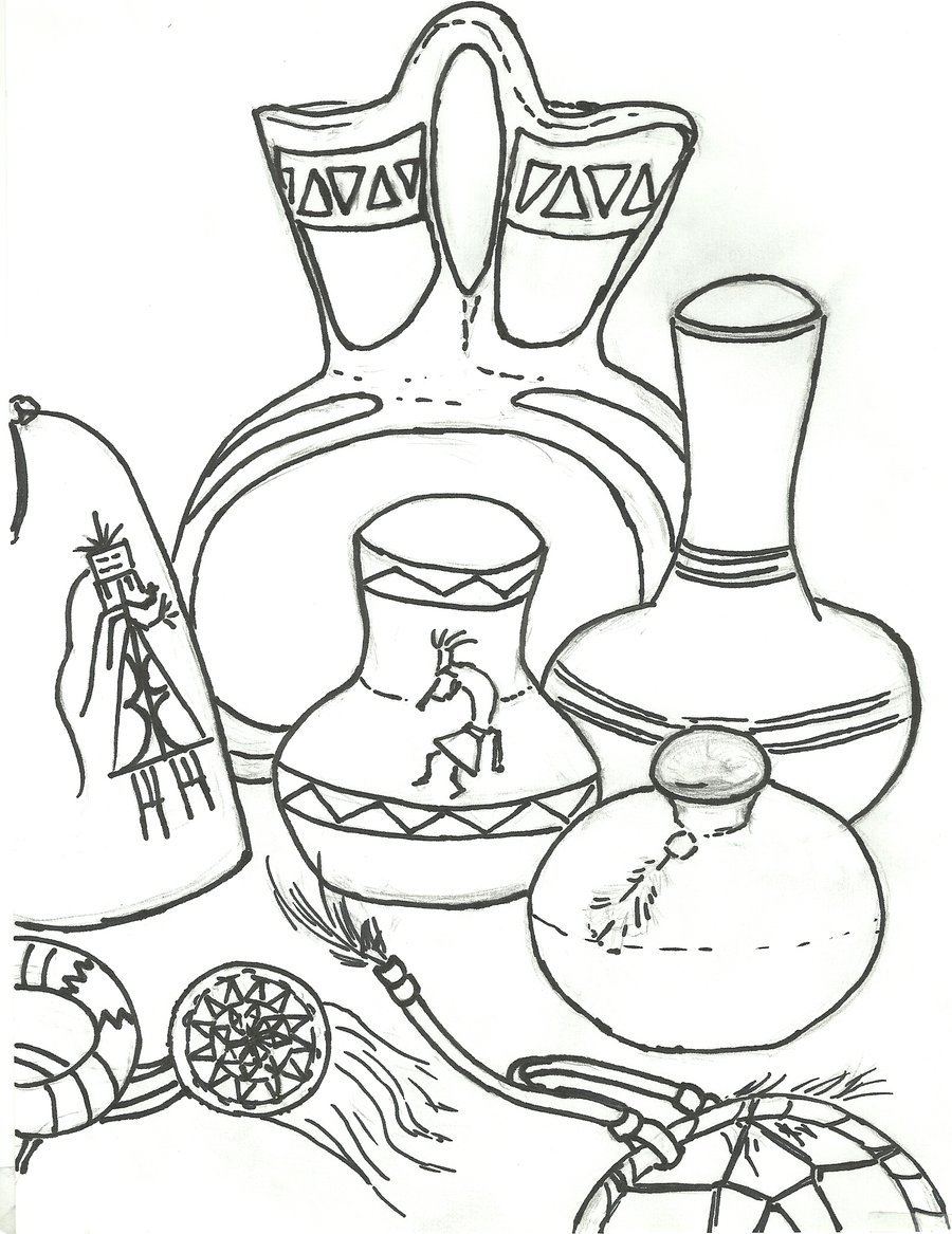 900x1167 Still Life Coloring Pages