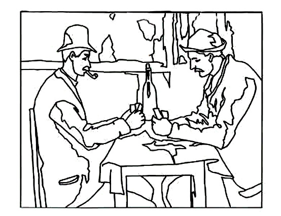 554x426 Cezanne Card Players