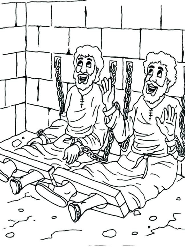 649x865 Bible Coloring Pages And In Prison For Free Bible Coloring Pages